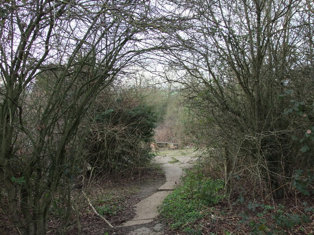 Entrance to a former plot on Dunton Plotlands