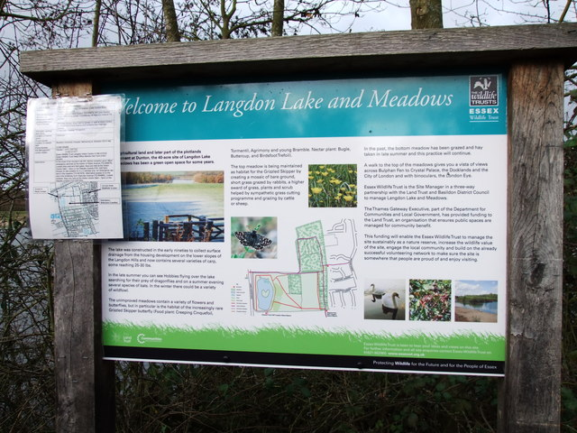Sign at Langdon Lake and MeadowsNature Reserve