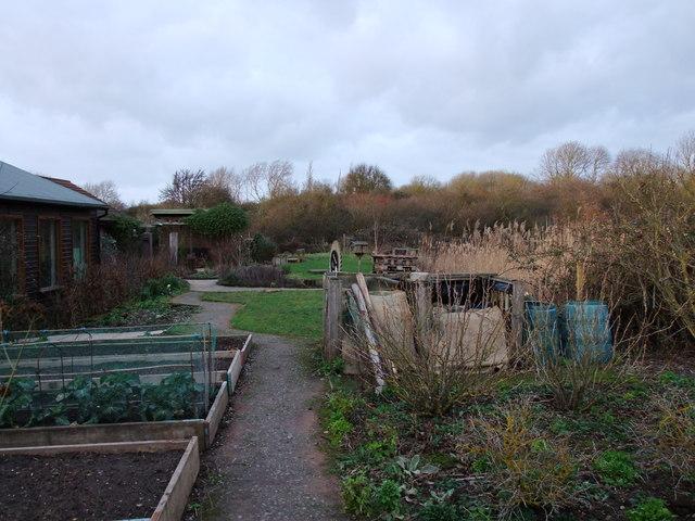 Ian's Gardens at visitors centre Langdon Nature Reserve