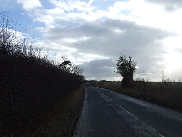 Station Lane towards Burton Leonard