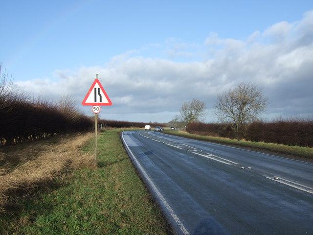 Harrogate Road (A61) heading north towards Ripon