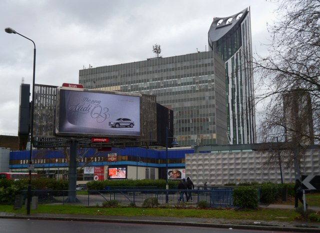 Looking across Elephant and Castle Roundabout SE1
