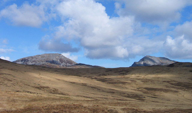 Grassy moorland north-east of Glas Bheinn