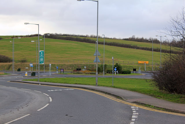 Roundabout from Littlefield Road, Dinnington