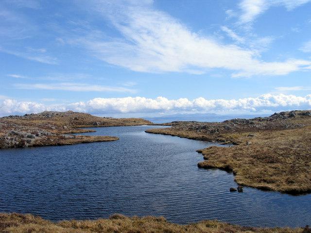 Lochan east-north-east of Dubh Bheinn