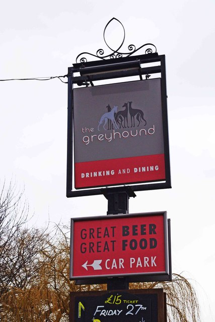 The Greyhound (2) - sign, 30 Rock Hill, Bromsgrove