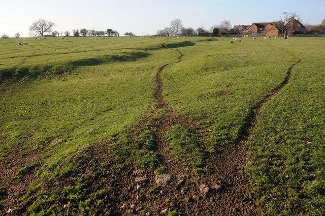 Farmland near Pulley Farm
