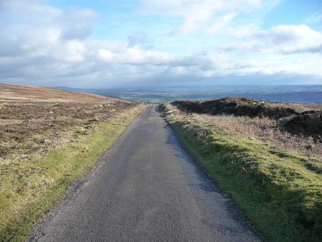 Mountain road at Cefn y Galchen on The Blorenge