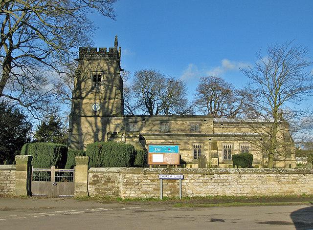 The parish church of All Saints, Slingsby