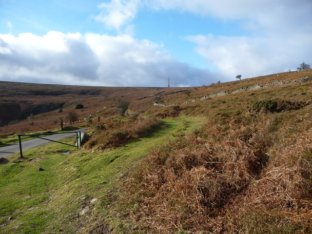 Path and mountain road junction on The Blorenge