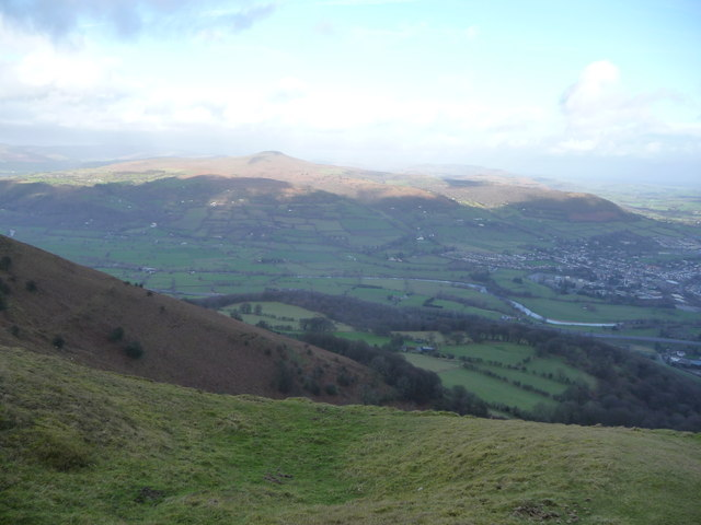 View over the northern escarpment of The Blorenge
