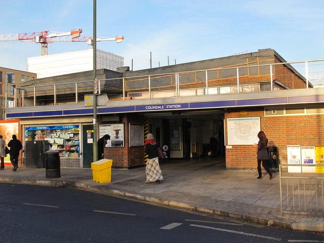 Colindale tube station entrance