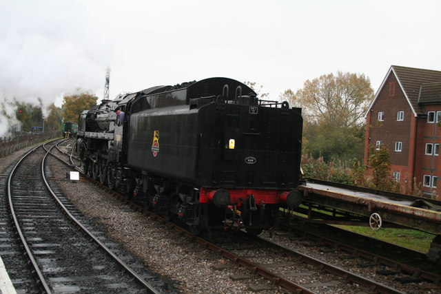 Alton, Hampshire: Locomotive 70000, 'Britannia'