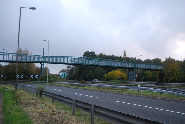 Footbridge over the Blackwater Valley Road