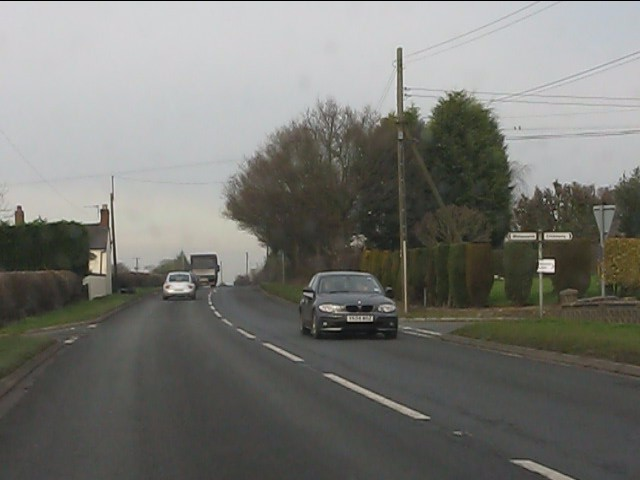 A41 at Crickmery crossroads