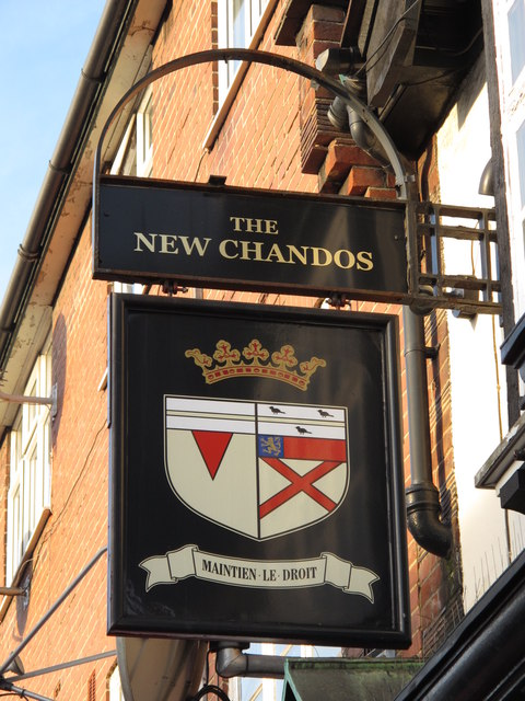 Sign for The New Chandos, Colindale Avenue / Annersley Avenue, NW9