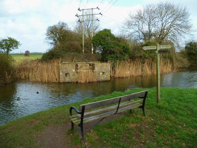 Seat facing old drawbridge site