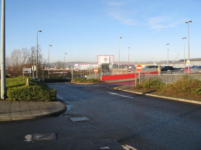 Exiting the carpark at Braehead