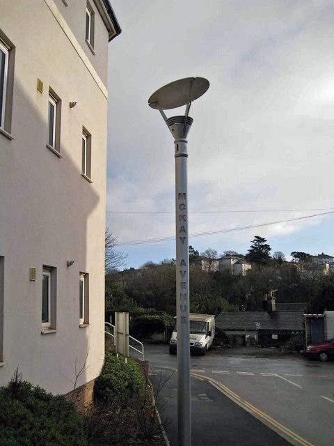 Street light, McKay Avenue
