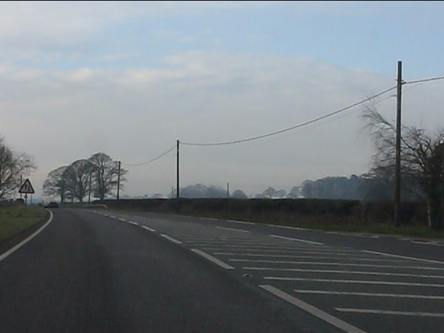 End of dual carriageway on the A41