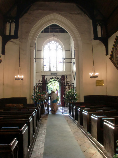 Aisle of Church of St Mary and St Thomas, Knebworth