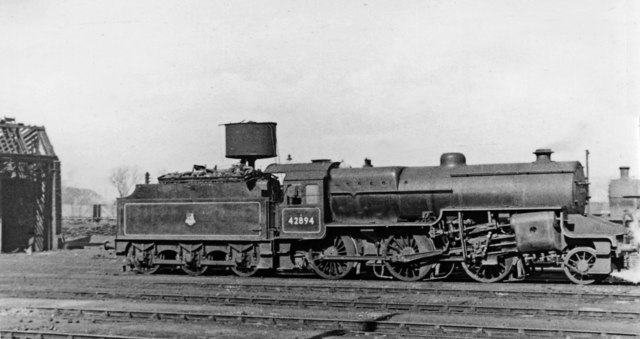 Hughes/Fowler 2-6-0 at Bescot Locomotive Depot