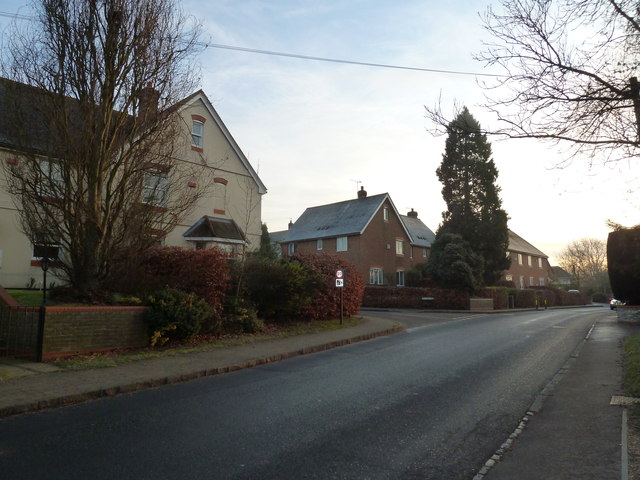Looking back towards the junction of Maltby's with the B3006