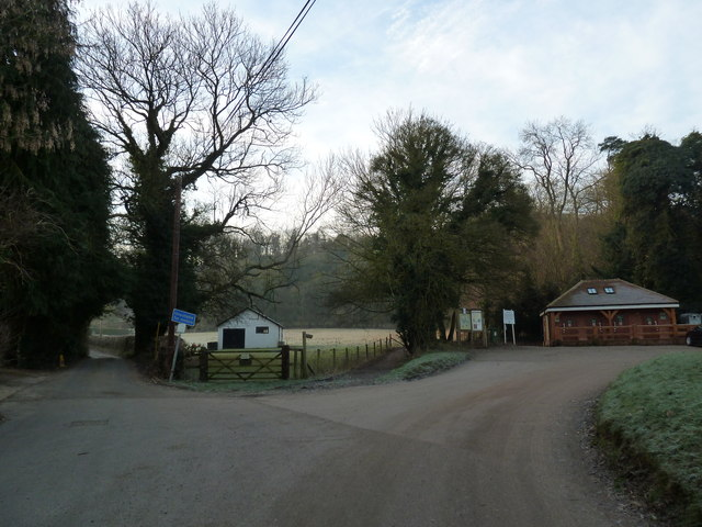 Car park at the bottom of Selborne Common