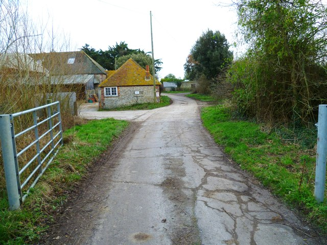 The way in to Chalder Farm