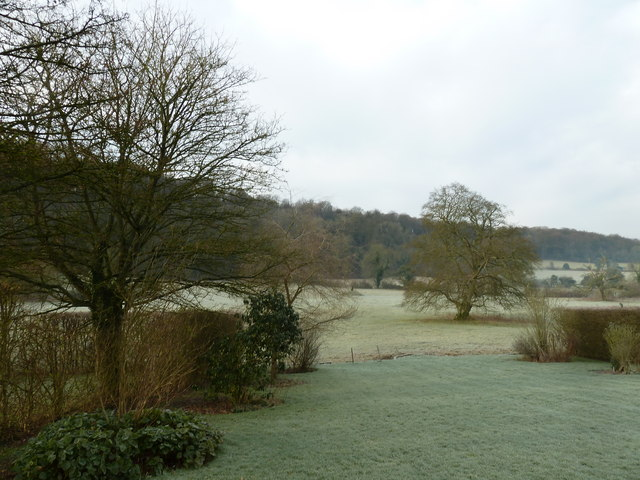Frosty fields as seen from The Wakes