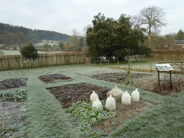 A frosty scene in Gilbert White's garden