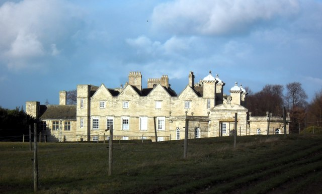 Rear view of Ledston Hall