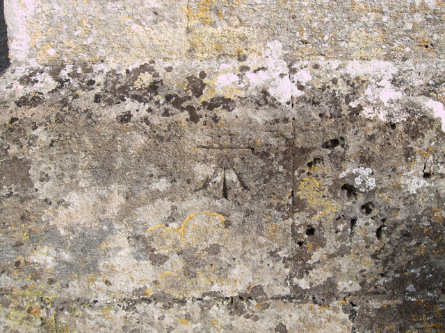 Benchmark, St. James's Church, Colesbourne