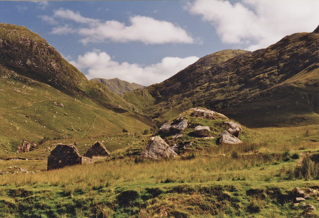 Glen Lichd ruin and Ciste Dubh