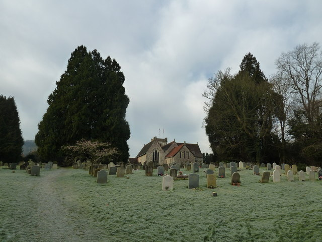 Selborne churchyard on a chilly January morning (e)