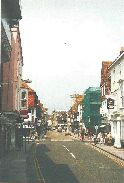 High Street, Salisbury in 1988