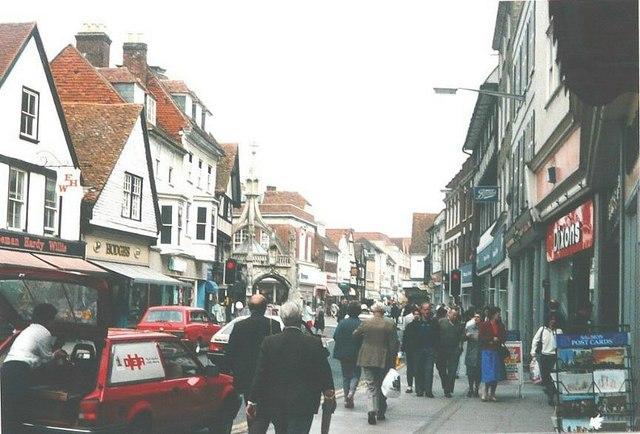 Silver Street, Salisbury in 1988