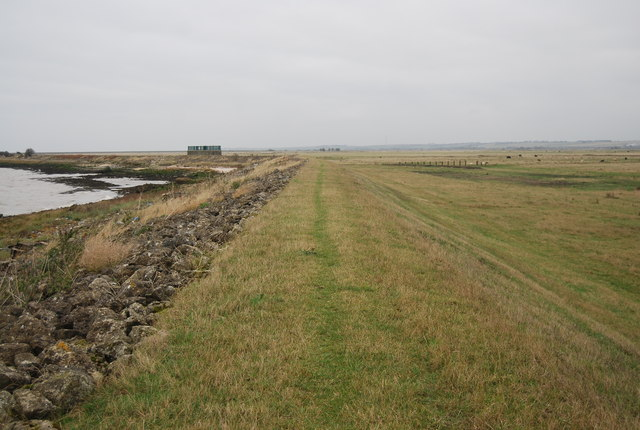 Footpath along the embankment top