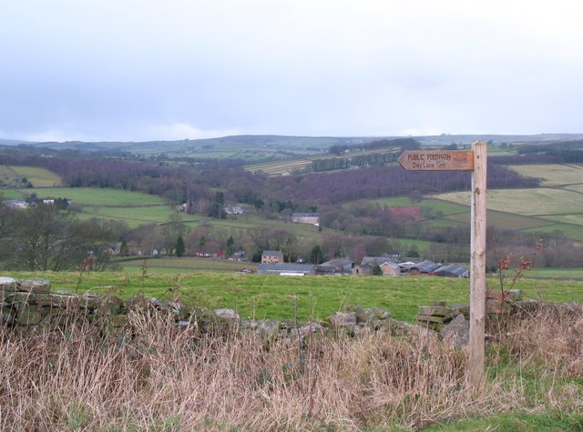 The start of two footpaths