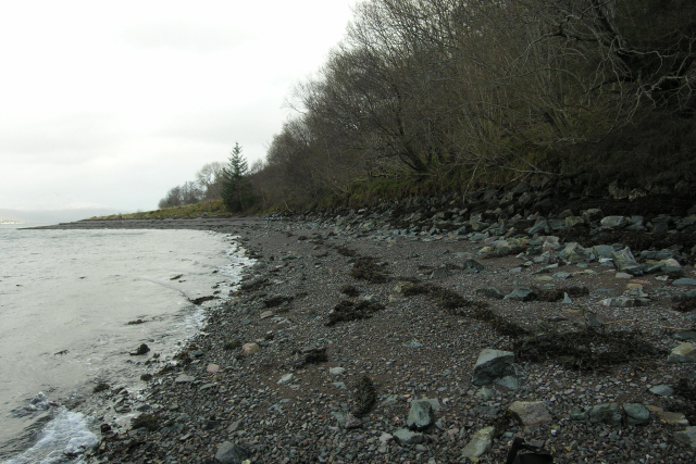 Gravel beach, south shore of Loch Carron
