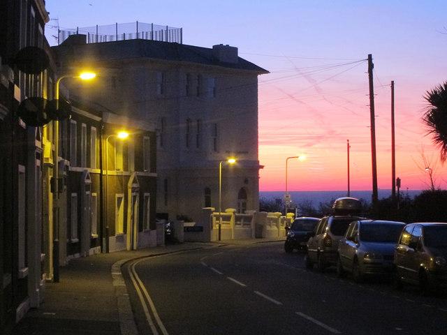 White Rock Road at sunrise