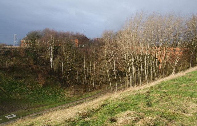 Former railway cutting going under Ringley Road