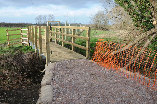 New footbridge over Norman's Brook