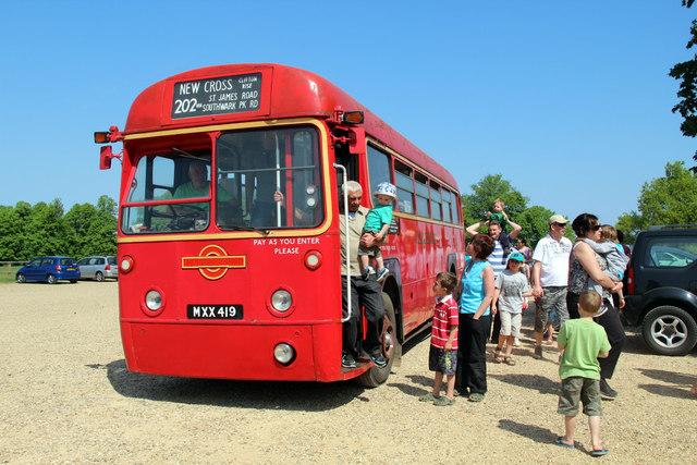 Bus in Car Park, Knebworth House, Hertfordshire