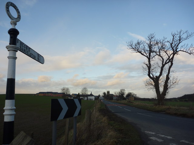 Rural East Lothian : Approaching Bolton From The South