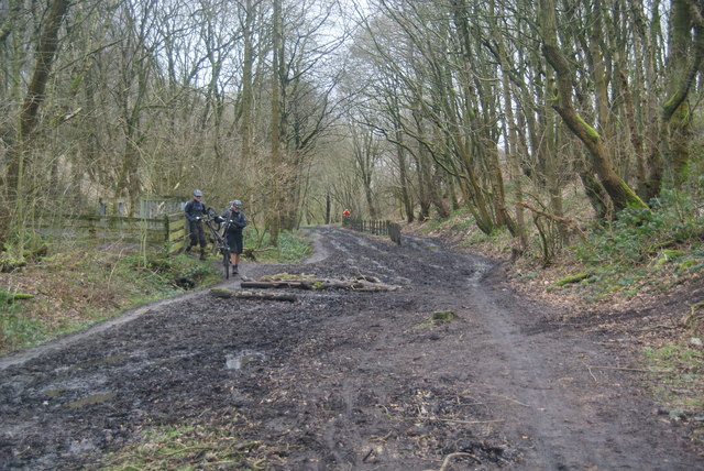 Mountain bikers on the Irwell Sculpture Trail