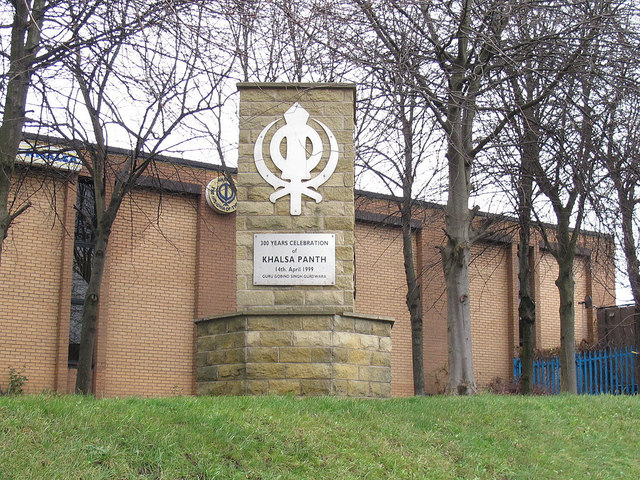 Monument outside the Gurdwara