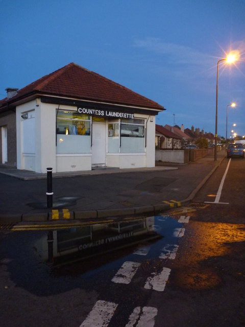 East Lothian Townscape : Countess Launderette, Countess Road, Dunbar