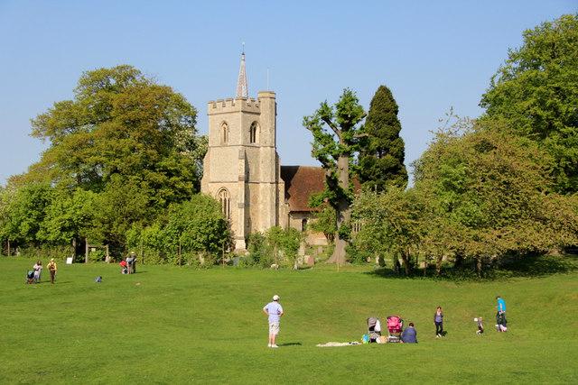An English Scene, Knebworth, Hertfordshire