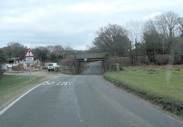 B3055 rail-bridge south of Brockenhurst